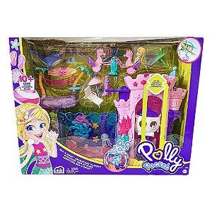 Boneca Polly Pocket Aventuras De Sereia Playset Mattel GXV27