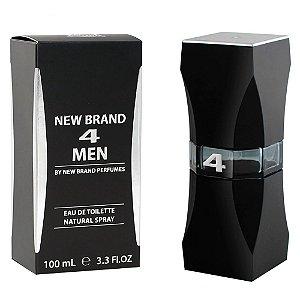 Perfume New Brand 4 Men Eau de Toilette 100ml Masculino