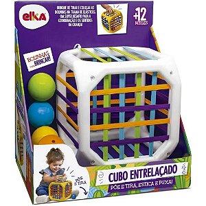 Brinquedo Infantil Educativo Cubo Entrelaçado - Elka