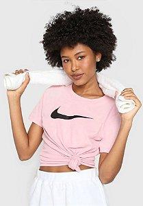 Camiseta Nke Dri Fit Tee Dfc Crew Rosa Feminina