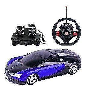 Carrinho Controle Remoto Racing Bugatti Veyron Multikids