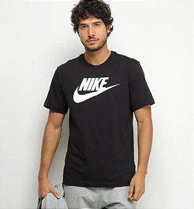 Camiseta Nike Sportswear Icon Futura Masculina Preta -Tam M