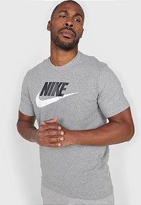 Camiseta Nike Sportswear Icon Futura Masculina Cinza