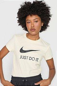 Camiseta Feminina Nike Just Do It Slim Amarela