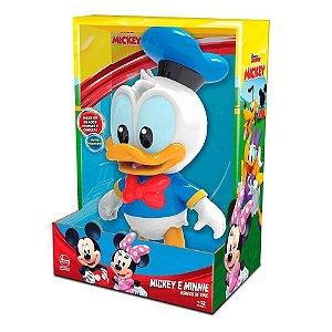 Boneco Figura Pato Donald 27cm em Vinil Atóxico Líder Disney