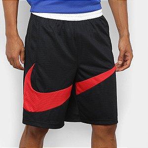 Bermuda Nike Dri-Fit 2.0 Masculina - Preto+Vermelho