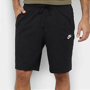 Bermuda Nike Moletom Club Jsy Masculina Preta