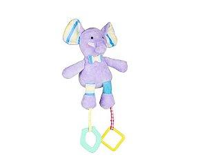 Pelucia Com Atividades Mima Bebe Elefante - Multikids Baby