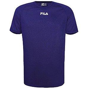 Fila Camiseta Basic Train Melange Masculina Mescla Marinho