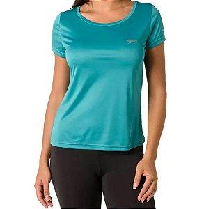 Camiseta Speedo Interlock Canoa Feminina  Verde