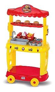 Brinquedo Food Truck Cozinha Infantil Com Acessórios