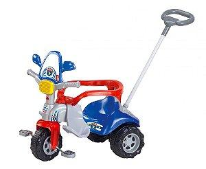 Triciclo Motoca Tico Tico Zoom Polícia c/Som Luz e Capacete