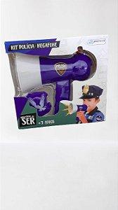 Brinquedo Brincando de ser Kit Polícia Megafone MULTILASER