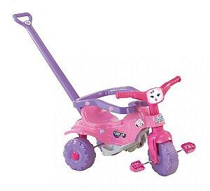Triciclo Motoca Infantil Tico Tico Pets Rosa Magic Toys 2811