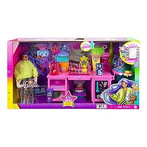 Barbie Extra Playset Salão De Beleza Com Pet Mattel