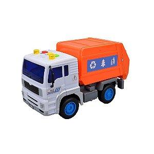 Caminhão fricção coleta de lixo com som e luz a bateria