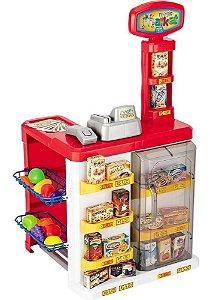 Brinquedo Mercadinho Infantil Caixa Registradora Magic Toys