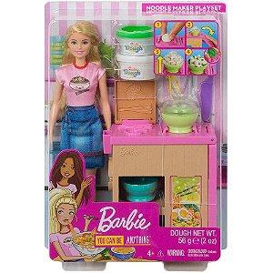 Boneca Barbie Profissões Conjunto Chef de Macarrão Mattel