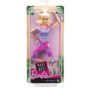 Barbie Boneca Feita Para Mexer Made To Move cor sortida