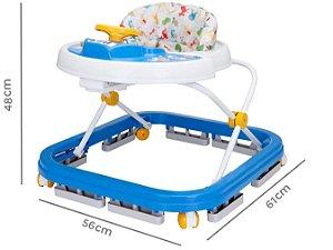 Andador Infantil Bebe Menino Musical Azul Styll Baby