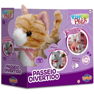 Gatinho Controle Remoto Movimento e Som Play full Pets Toyng