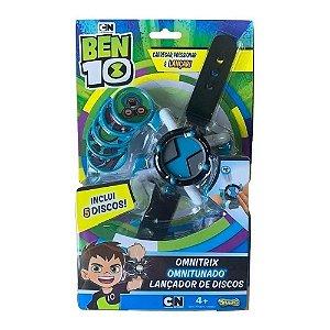 Lançador de Discos Ben10 Omnitrix Omnitunado Azul Sunny 1759
