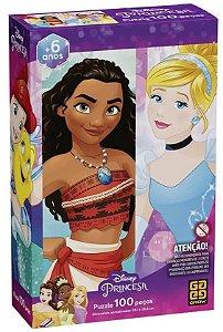 Quebra Cabeça Princesa Disney 100 Peças Puzzle Grow 03586