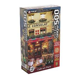 Quebra Cabeça Café em Paris 500 peças da Grow 03965