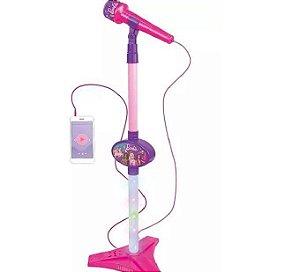 Microfone Barbie Dreamtopia c/Pedestal Função MP3 F00576 Fun