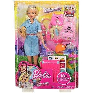 Barbie de Viagem Explorar e Descobrir com Acessórios- Mattel
