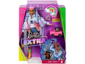 Barbie Extra Tranças Arco Irís com Acessórios Mattel GRN29