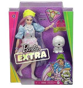 Barbie Extra Cabelo Duas Cores com Acessórios Mattel GVR05