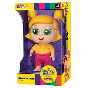 Boneca Musical Sara 19 cm Totoy Kids Brinquedos Rosita 1106