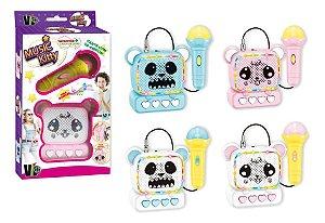 Microfone Infantil Music Kitty Diversão Em Família SORDIDO
