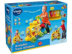 Andador Infantil Trem Alfabeto com Som e Luz de Empurrar