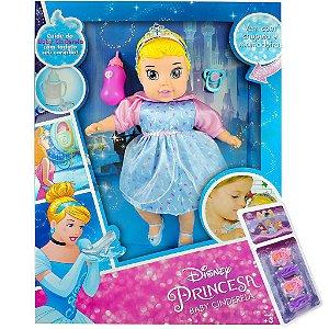 Boneca Baby Cinderela Big Disney Princesa - 45 cm Mimo
