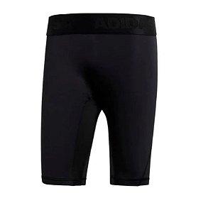 Bermuda de Compressão AlphaSkin Sport Preta Adidas