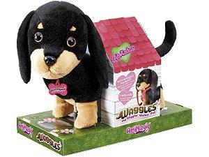 Pelúcia c/Movimento Adotados Pet Cachorro Salsichinha Fun