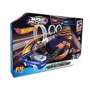 Pista de Corrida HotWheels Wave Racers 3 Loops Match F0062-6