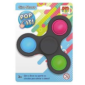 Giro Stress Pop It Relaxante Fidget Toys Spinner DM Toys