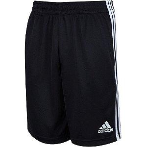 Short 3 Listras Adidas M  Black/White Masculino Tamanho P