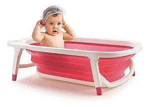 Banheira Dobrável Flexi Bath Rosa Multikids