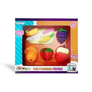 Creative Fun Mini Feirinha 5 Frutas C/Velcro Multikids Br111