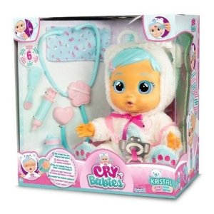 Boneca Cry Babies Kristal Cristal Amando Cuidando Multikids