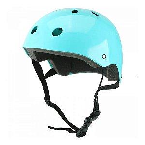 Kit De Proteção Infantil Capacete G Azul/preto Es183 Atrio
