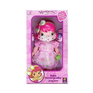 Boneca Moranguinho Baby Amiguinha com Máscara 4010 Mimo