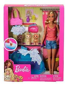 Boneca Barbie E Pets Cuidando De Cachorrinhos GDJ37 Mattel