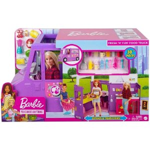 Veiculo Barbie Fresh´n Fun Food Truck GMW07 Mattel