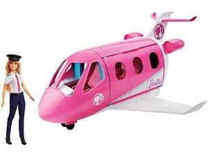 Jatinho De Aventuras Da Barbie Boneca E Avião - Mattel Gjb33