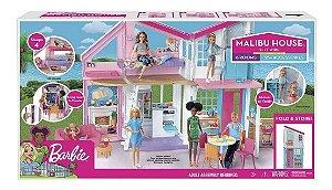 Brinquedo Barbie Mansão Malibu Com Acessorios Mattel Fxg57